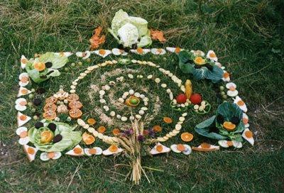 altar lammas food altar