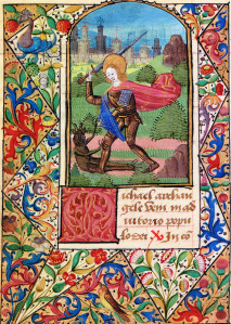 St. Michael battling a demon