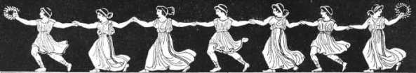 Greek women dancing, attributed to a vase in the Museo Borbonico, Naples.  From The dance: Historic Illustrations of Dancing from 3300 B.C. to 1911 A.D. London, 1911