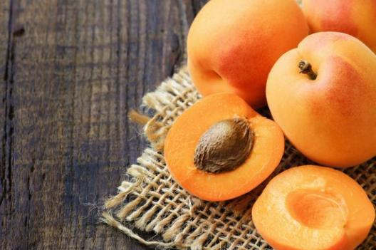 Apricots and a kernel.