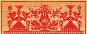 Rozhanitsa, Deer Goddess embroidery
