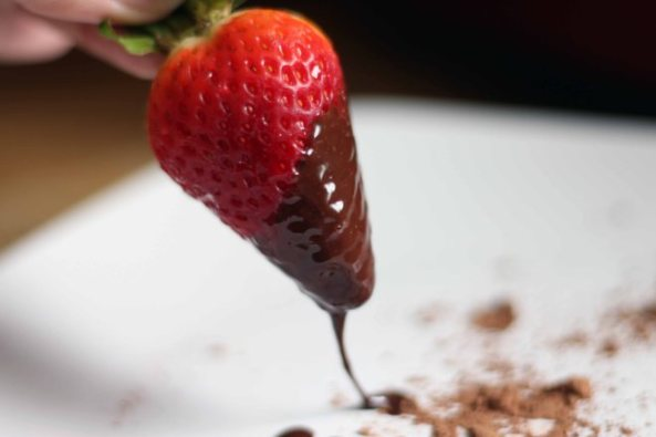 strawberry dipped in chocolate