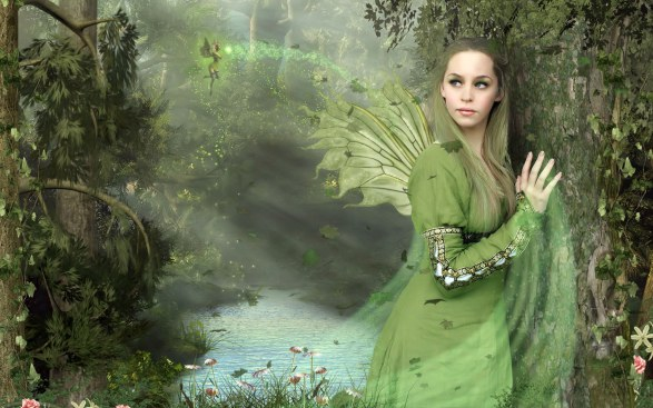 Forrest Green Fairy Girl pd
