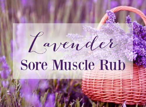 Lavender Sore Muscle Rub