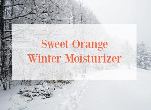 Sweet Orange Winter Moisturizer