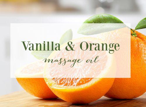 Vanilla and Orange Massage Oil