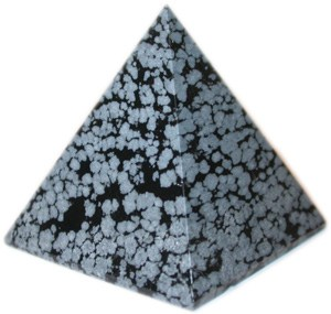 Snowflake Obsidian Pyramid